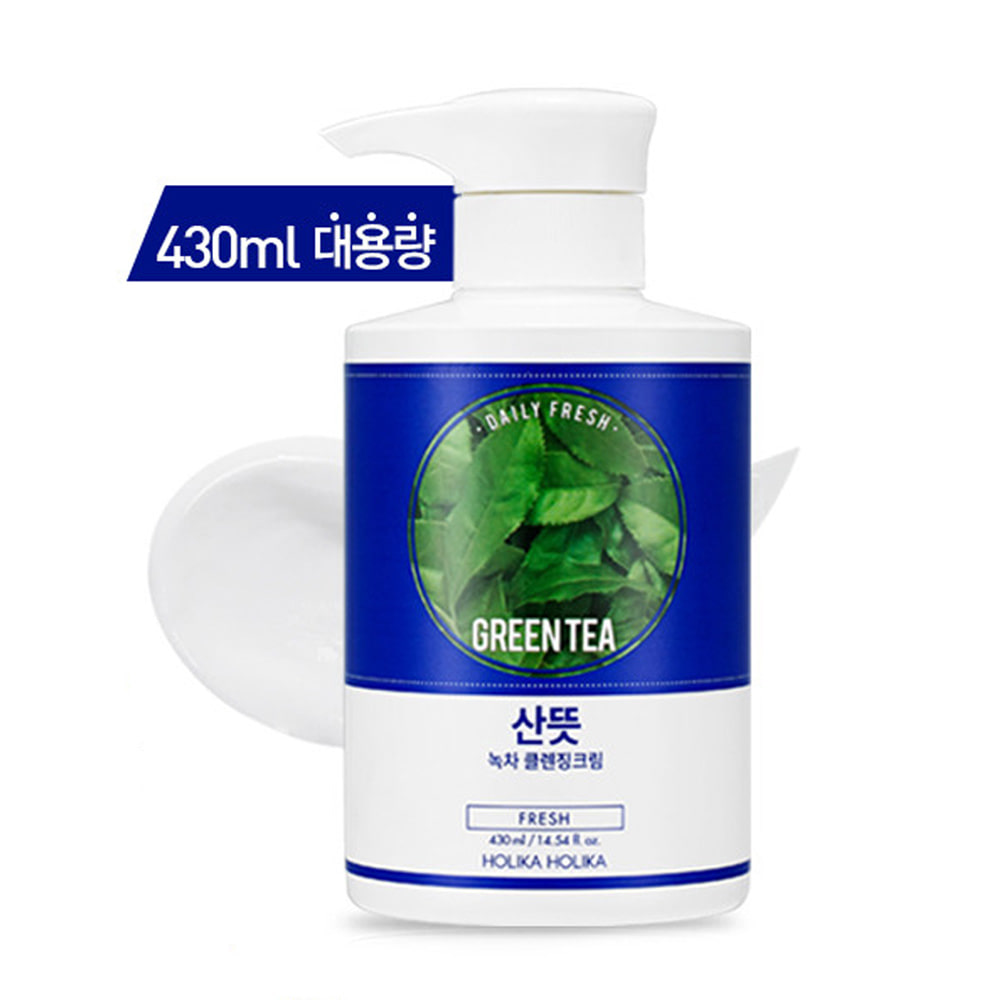 Holika Holika Daily Fresh Green Tea Cleansing Cream 430ml