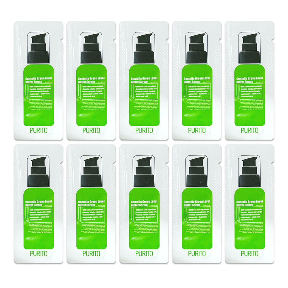 PURITO Centella Green Level Buffet Serum Sample 10ea