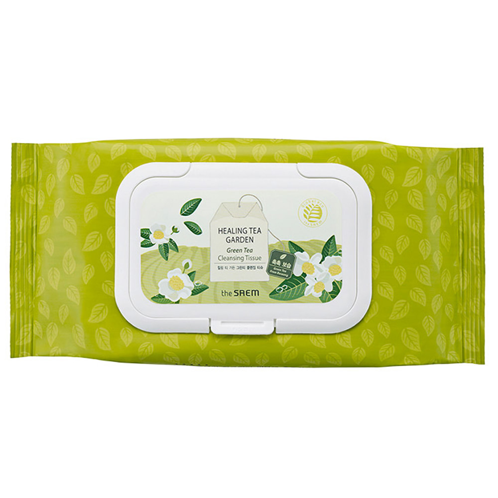 THESAEM-The Saem Healing Tea Garden Green Tea Cleansing Tissue 60ea
