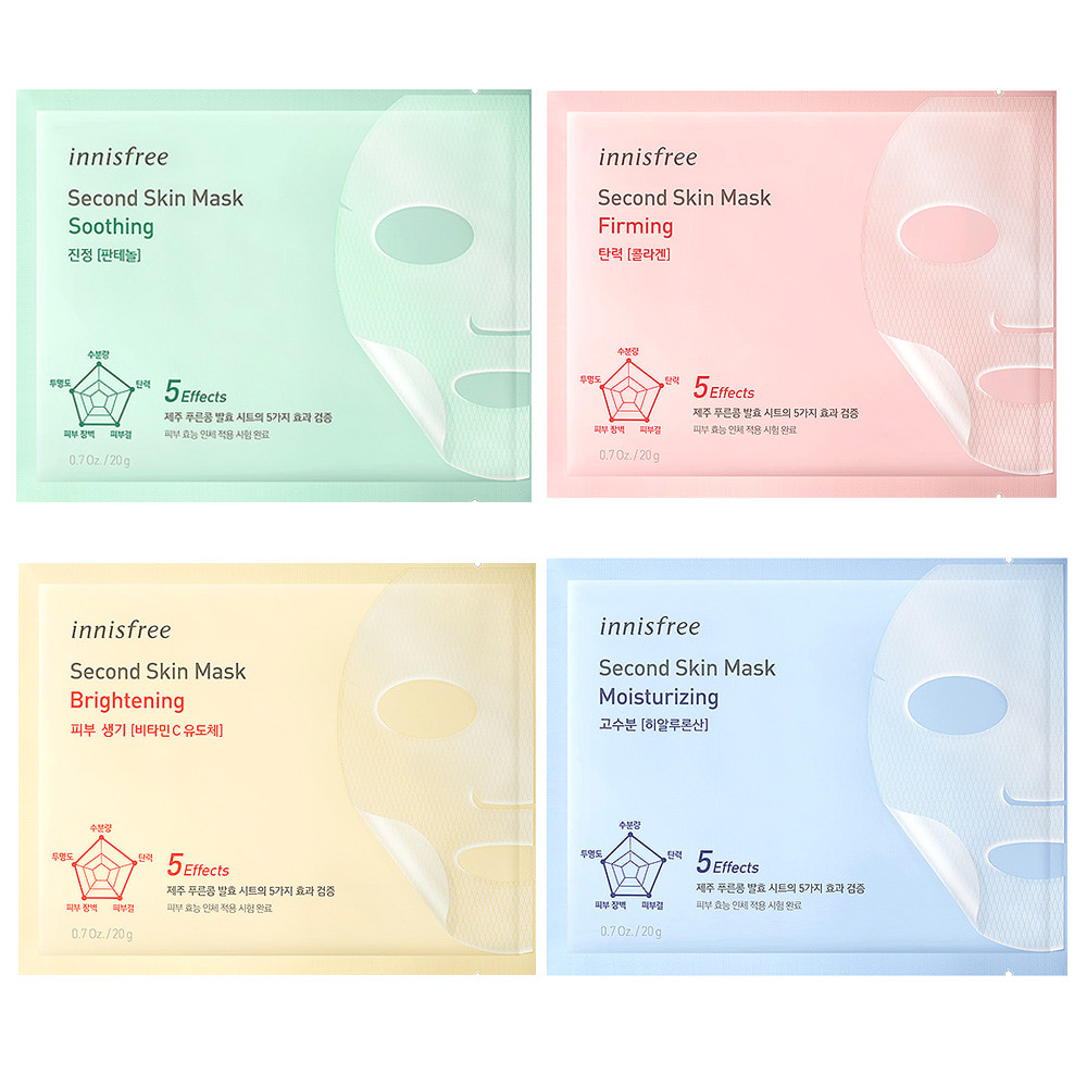 Innisfree Second Skin Mask 20g x 5pcs