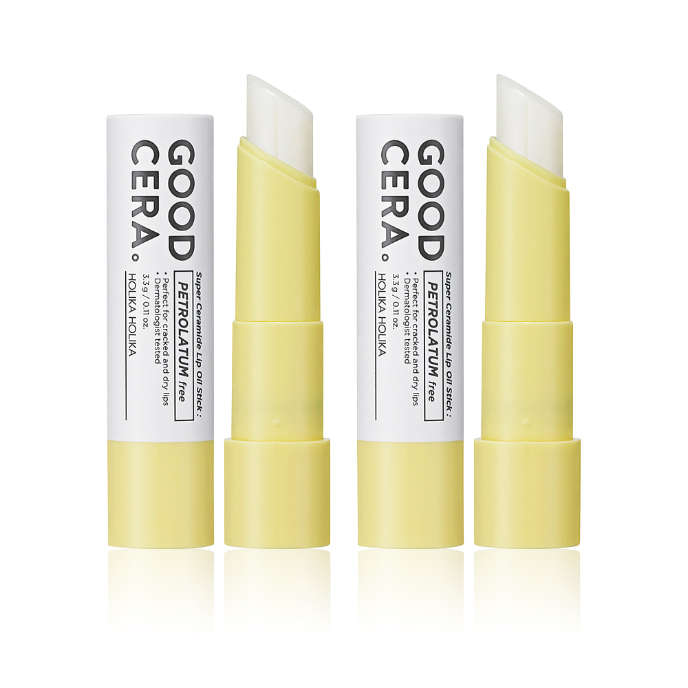 Holika Holika Good Cera Super Ceramide Lip Oil Stick 3.3g 1+1 2pcs